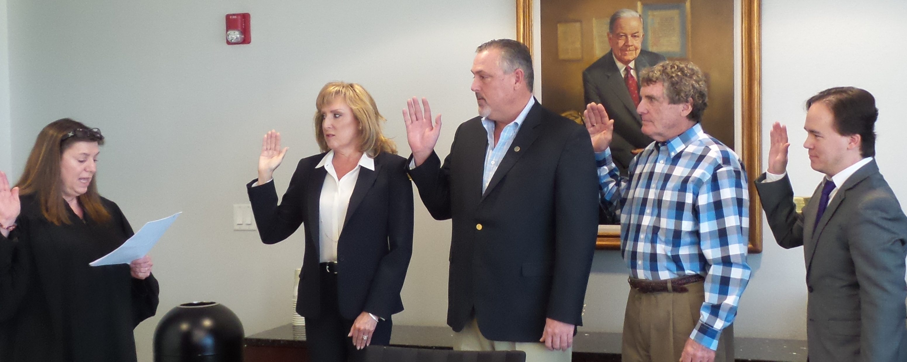 Group being sworn in