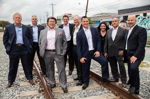 group of lawyers on railroad tracks