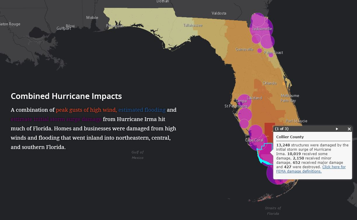 Interactive Story Map Shows Hurricane Impacts And Florida S