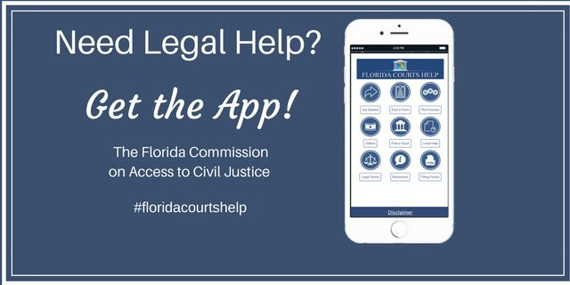 Need legal help? Get the app from The Florida Commission on Access to Civil Justice. #floridacourtshelp